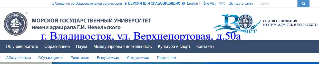 МГУ Невельского Мудл